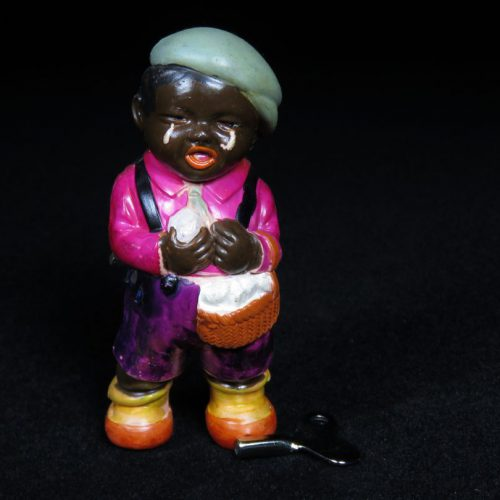 Vintage Antique Tin and Celluloid Black Child Crying Americana Wind-up Toy Japan Japanese