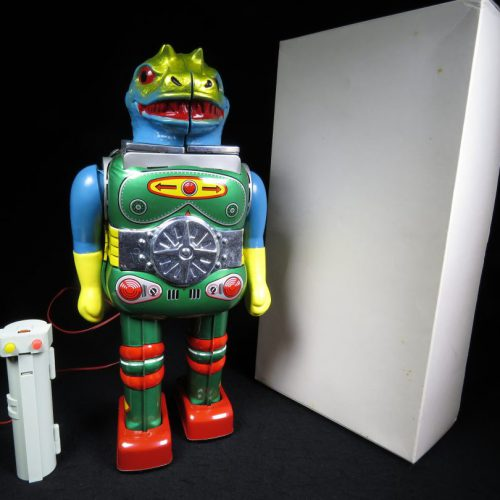 Antique Vintage Tin Lithograph Space Change Man Changeman Robot Battery Operated Toy Horikawa Japan Japanese