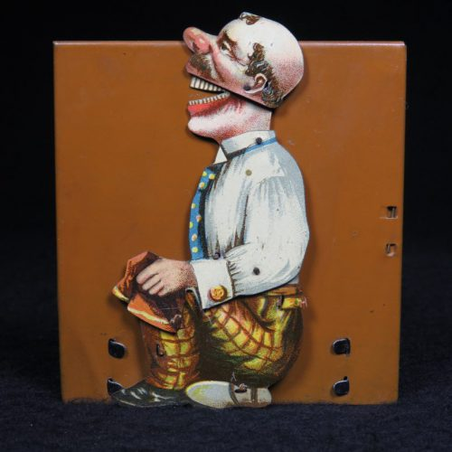 Vintage Antique Tin Lithograph Laughing Shoe Tailor Old Man Wind-up Toy Distler Germany