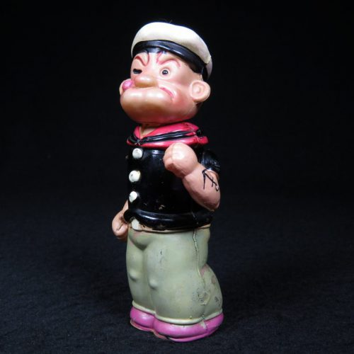 Vintage Antique Tin and Celluloid Popeye the Sailor Man Wind-up Prewar Japan