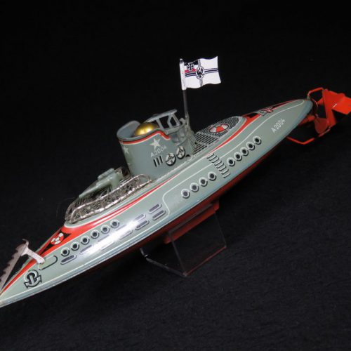 Vintage Antique Tin Lithograph Submarine Ship Boat Wind-up Toy Arnold US Zone Germany