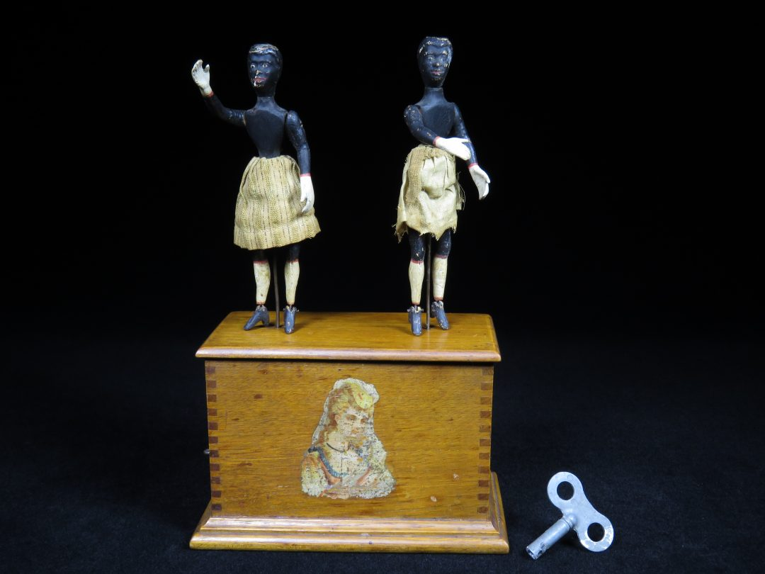 Vintage Antique Black Americana Dancer Automaton Toy Germany
