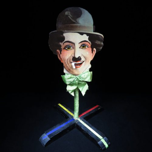 Vintage Antique Rils Englan Charlie Chaplin Ball Target Game Battery Operated Toy