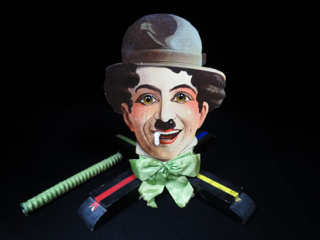 Vintage Antique Charlie Chaplin Ball Target Game Battery Operated Toy Rils Germany