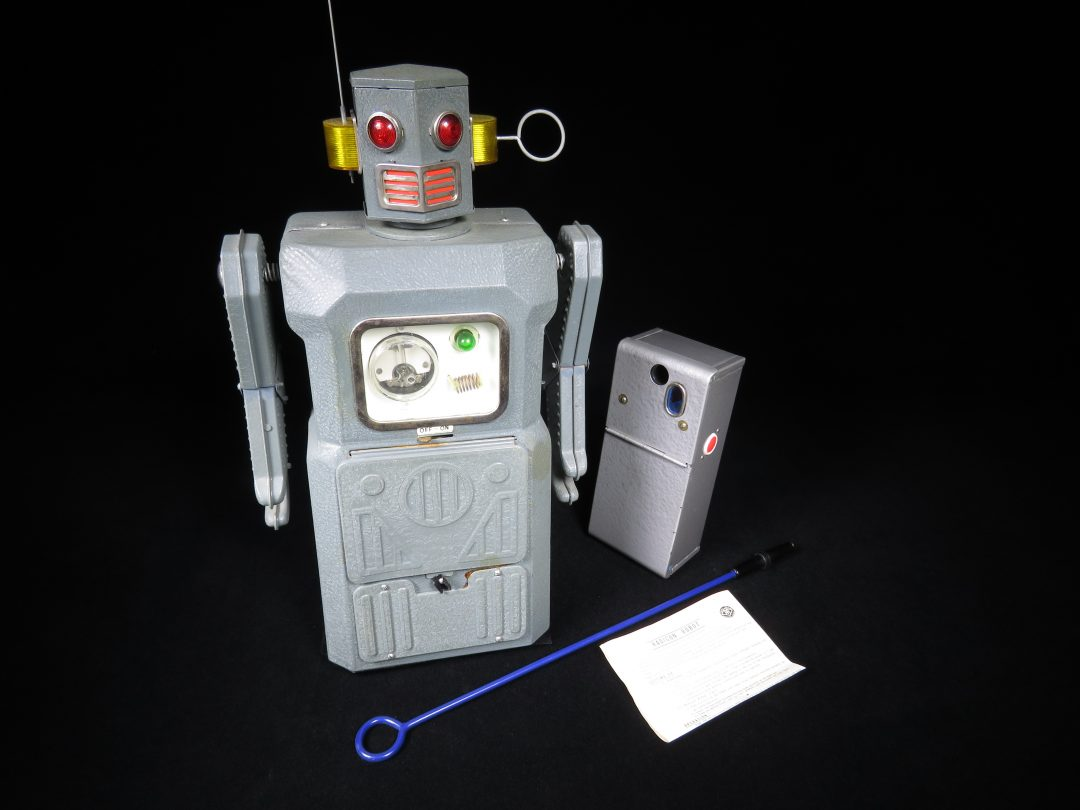 Antique Vintage Tin Lithograph Space Radicon Robot Battery Operated Toy Japan Gang of Five