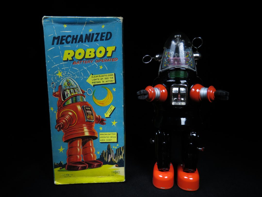 Antique Vintage Tin Space Mechanized Robby Robot Battery Operated Toy Japan