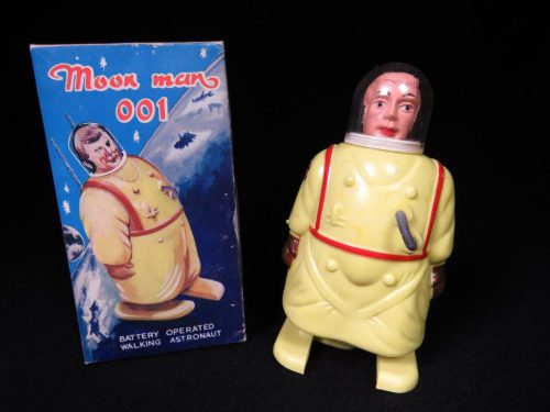 Antique Vintage Hard Plastic Space Robot Wind-Up Toy Japan Moon Man 001 Astronaut