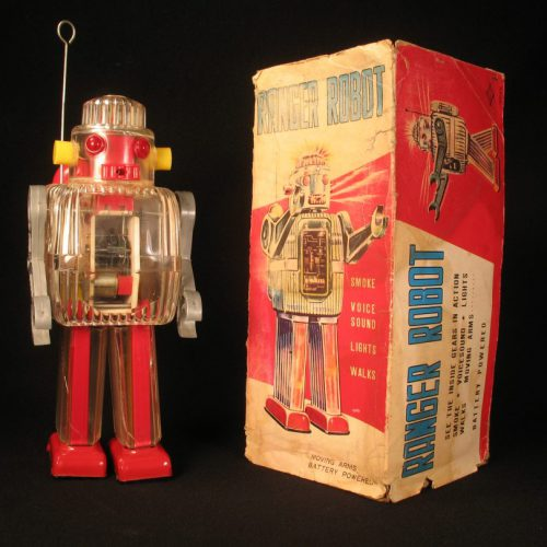Antique Vintage Tin Space Ranger Robot Battery Operated Toy Japan