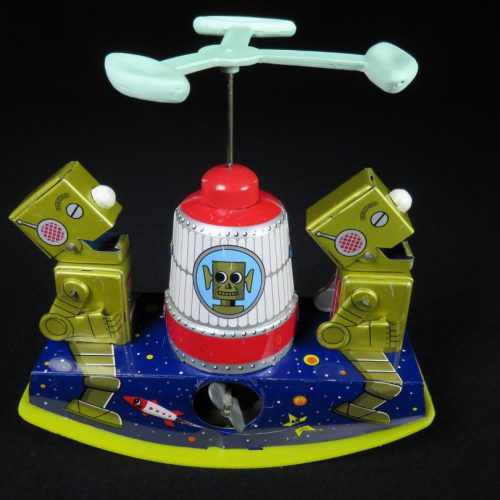 Antique Vintage Tin Space Robot Space Kiddy Wind-Up Toy Japan
